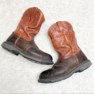 Ariat brown work boots men's size 10.5 western